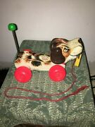 Vintage Fisher Price Little Snoopy Dog 1965-usa 1968-canada Nice Vintage Toy