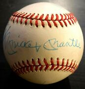 1989 Mlb Baseball Signed Ball Mays Mantle Snider Autographed Cooperstown Package
