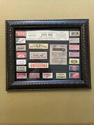 Framed Display Of Reproduction Pulver Gum And Award Cards