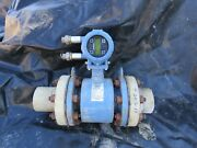 Rosemount 4and039and039 Flowtube 8705fhe040c1w0n0b3q4 W/ 8732emt1a1n5m4 Used