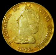 1848 Gold Colombia 16 Pesos Diez I Seis Coin Bogota Mint