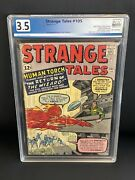Strange Tales 105 Pgx 3.5 Marvel 1963 2nd Wizard, Human Torch Cover Like Cgc