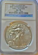 2011 S Eagle S 1- 25th Anniversary Set - Ngc Ms 70 - Early Releases