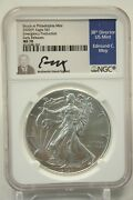 2020 P 1 American Silver Eagle Ngc Ms70 Emergency Production Moy Signed 200