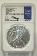 2020 P 1 American Silver Eagle Ngc Ms70 Emergency Production Moy Signed 195