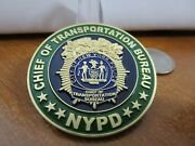 Nypd Chief Of Transportation Bureau 2015 Pope Francis Visit Challenge Coin 399g