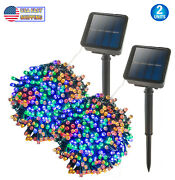 Solar Christmas String Multicolor Rgb Lights Outdoor 72ft 200 Led 8 Modes Fairy