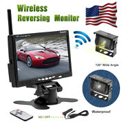 7 Wireless Vehicle Rear View Monitor+back Up Camera For Truck Rv Trailer Camper