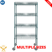 Green Epoxy Drying Rack 4-shelf Kit With 64 In. Posts And Casters Multiple Sizes