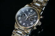 Longines Master Collection Chronograph L2.669.4.51.6 W/ G Card Menand039s Authentic