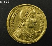 393-423ad Honorius Diademed Bust/emperor Standing W/captive 4.39g Aghigh Grade