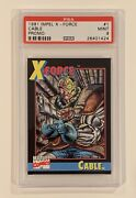 1991 Marvel Universe Cable 1 X-force • Psa 9 Mint • First Rookie Card • Psa 10