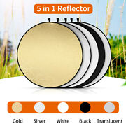 5 In 1 Collapsible Round Photography Studio Photo Diffuser Light Reflector Us