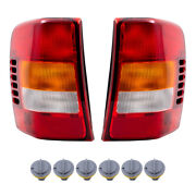 8 Pc Set Tail Lights W/circuit Board Andsockets W/o Bulbs Fit 02-04 Grand Cherokee