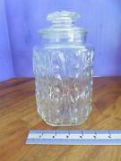 Clear Glass Decorative Cookie Apothecary Storage Canister Jar With Lid