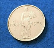 1939 Luxembourg Franc - Very Nice Old Coin - See Pictures