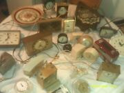 Lot Of Untested Electric And Battery Operated Clocks Some Old