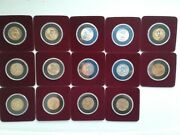 14 Uncirculated United States Presidential Dollar Golden Coins - Coin Lot