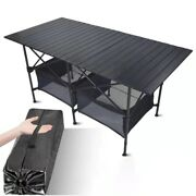 Outdoor Folding Table Chair Camping Aluminum Bbq Picnic Waterproof Durable Desk