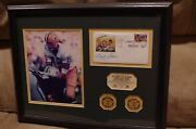 Bart Starr Vince Lombardi Packers Limited Edition Framed Signature Print W/coa