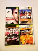 Lot Of 4 Xbox Original Tony Hawk's Pro Skater 4 Underground 2, Project 8 And Am