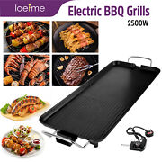 Electric Teppanyaki Table Grill Griddle Bbq Barbecue Party Nonstick Plate Baking