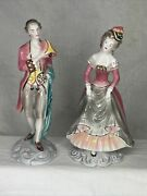 Goldscheider Everlast Figurines 812 And 818 Southern Beau And Southern Belle