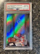 2013 Bowman Sterling Blue Sapphire Signing Mike Trout Auto /50 Bssmt Psa 8