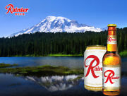 Rainier Beer Ad Metal Sign Reproduction Vintage Bar Home Decor Free Shipping