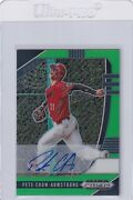 2020 Prizms Lime Green /23 Autographs Rc Pete Crow-armstrong Mets Auto E6151