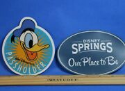 Authentic Donald Duck Passholder Magnet Summer 2018 Exclusive And Disney Springs +