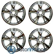 Lexus Is250 Is350 2009 2010 18 Oem Staggered Wheels Rims Set Light Pvd Chrome