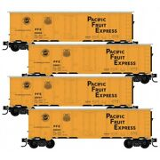 N Scale Micro-trains Mtl 99300175 Pfe Pacific Fruit Express 4-car Runner Pack