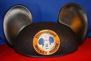 Disneyland Mickey Mouse Ears Hat 30th Anniversary Signed By 3 Mouseketeers 1985