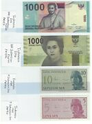Indonesia Currency 1964 5 And 10 Sen 2011 1000 Rupiah 2016 1000 Rupiah In Unc