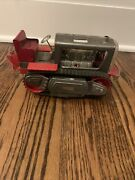 Vtg 1960s Nomura Japan Robot Tractor Lighted Pistol Tin Litho Toy No Robot As Is
