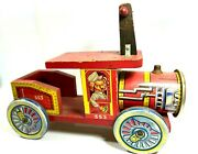 Vintage Wood And Metal Tin Ride On Train 553 60's 70's Rare