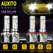 4x Auxito 9005 H11 Led Headlight Kit High Low Beam 6500k 400w 48000lm Bulbs K3
