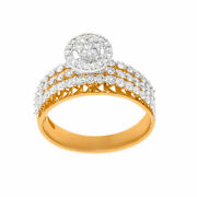 0.93ct Natural Diamond Engagement Ring For Woman 14kt Yellow Gold Fine Jewellry