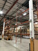 Heavy Duty 3 Tier Warehouse Racks With Grates Included 12 Pallet Capacity