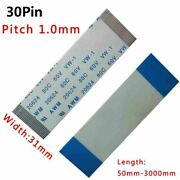 Ffc/fpc Flexible Flat Cable Pitch 1.0mm 30-pin 30p 80c 60v Vw-1 50-3000mm W31mm