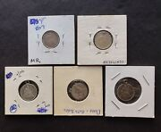 Lot Of 5 Silver Us Dime Size Love Tokens