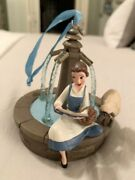 Disney Store Belle Fountain Sketchbook 2017 Singing Ornament Beauty And The Beast
