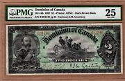 Canada Note 2 Note Year 1897 Dc-14b Grade Pmg-25nice Centrage..cat3600