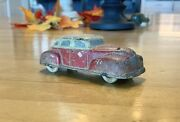 Vintage Sun Rubber Toy Car - Red / White W/white Rubber Tires