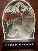 2001 Coors Light Frost Brewed Lighted Sign Football
