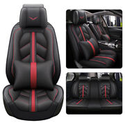11pcs Luxury Car Seat Cover Pu Leather Protector Cushion Universal Fits 5-seats