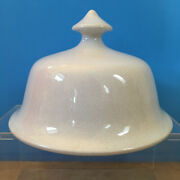 Antique White Ironstone Lid Only Cover Farmhouse Display Decor Top Replacement