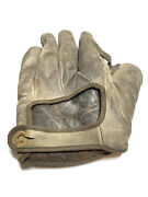Vintage Spalding Baseball Glove Mitt - From 1900andrsquos - Assist - Detached Button