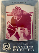 2007-2008 Carey Price Rc Rookie Master Pieces The Cup Printing Plate Magenta 1/1